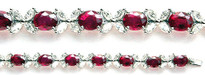 18k Ruby and Diamond Bracelet in White Gold - 9.24ct Rubies