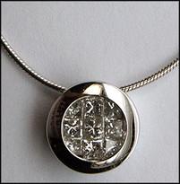 Invisible Set Floating Diamond Pendant .98ct