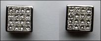 Princess Cut Diamond Earrings (32 Diamonds Invisible Setting)