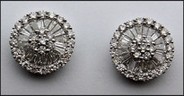 18k White Gold Diamond Earrings 1.13ct Diamond