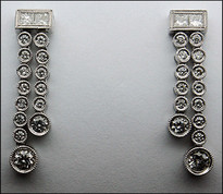 Hanging Diamond Earrings 1.06ct Diamond