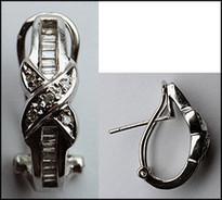 Diamond Clip Back Earrings - 14kt Gold