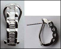 Diamond Baguette Earrings in 18kt with 1/2ct Diamond
