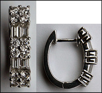 Diamond Earring Huggies - 1.10ct Diamond