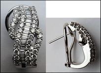 Diamond F Color Earrings - 1.41ct Diamond