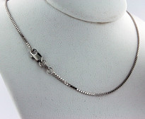 "White Gold 18"" Box Chain"