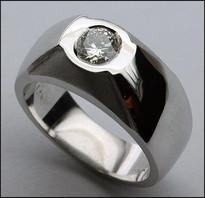 Mens Diamond Solitaire Ring - 1/2ct Diamond