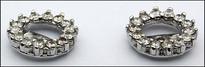 Diamond Stud Earring Jackets, 14kt White Gold Jackets, 28 Diamonds