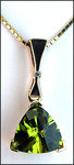 3.6ct Trilliant Cut Peridot Pendant