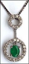 18kt Emerald and Diamond Circle Pendant