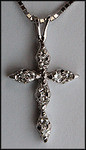 14kt White Gold Diamond Cross - .22ct Diamond G Color