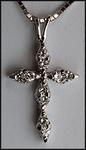 14kt White Gold Diamond Cross - .22ct Diamond G Color