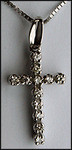 1/4ct Diamond Cross set in 14kt White Gold