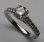 Ladies White Gold Engagement Ring - .97ct Diamond