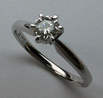 1/2ct F Color Solitaire Diamond Engagement Ring