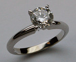 GIA Certified  .81ct H VS2 Solitaire Engagement Ring