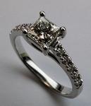 Princess Cut Engagement Ring - EGL Certified - 1.03ct