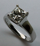 1.61ct G Color, VS1 Clarity, EGL Certified Princess Cut Diamond Ring