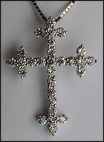 1.01ct Diamond Cross in 18kt White Gold
