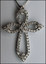 1.26ct Diamond 18kt White Gold Diamond Cross