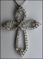 1.26ct Diamond 18kt White Gold Diamond Cross