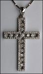 Diamond Cross in 18kt White Gold - G Color