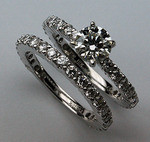 Diamond Engagement Ring Set - 2.52ct Diamond - GIA Certified