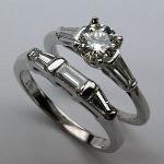 Platinum Engagement Ring Set - 1.53ct TW - EGL Certified