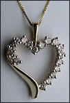 1ct Diamond Heart Pendant