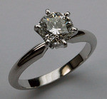 GIA Certified, 1.11ct G-VS1 Solitaire, Platinum Setting
