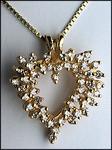 1.25ct Diamond Cluster Heart Pendant