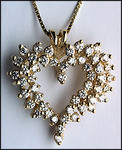 2.25ct Diamond Cluster Heart Pendant