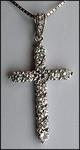 18kt White Gold Diamond Cross, 1.01ct Diamond Prong Set