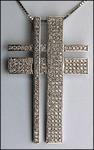 Pave Set Diamond Cross with 1.41ct G Color Diamonds