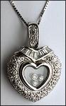 Floating Diamond Heart Pendant, .92ct Diamond