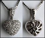 18kt White Gold Diamond Pave Heart, 1.00ct Diamond