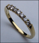18kt Yellow Gold Band, .32ct Diamond, 7 Diamonds