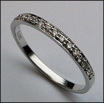18kt White Gold, 1/4ct Diamond Wedding Band