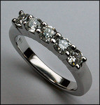 5 Diamond Wedding Band, .78ct, Ladies Wedding Jewelry