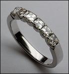 6 Stone Asher Cut Diamond Wedding Band, 1.09ct