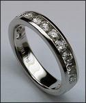 Diamond Wedding Band, 12 Diamonds, Womens, 1ct F-VS2
