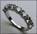 2.46ct G Color, Ladies Platinum Diamond Band