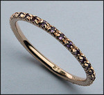 Pink Sapphire Eternity Band .25 Carat , 14kt Pink Gold
