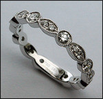 Ladies Diamond Eternity Wedding Band, 3mm