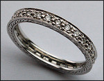 Antique Reproduction Diamond Eternity Wedding Band