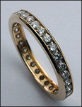 14kt Yellow Gold Channel Set Diamond Eternity Band