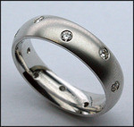 14kt White Gold Comfort Fit Diamond Eternity Wedding Band