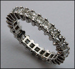 Diamond Eternity Band with 2.50ct Princess Cut Diamonds