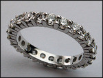 14kt White Gold Diamond Eternity Wedding Band