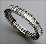 Eternity Band with Baguette Diamonds - 18kt White Gold
